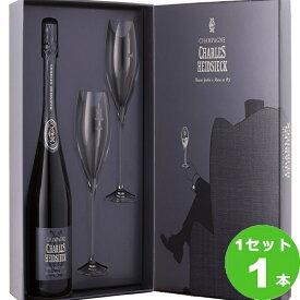 日本リカー シャルル・エドシック ブリュット レゼルヴ グラスセット 「アームチェアクラブ」 スパークリングワイン 750ml ×1本(個)
