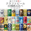 【ポイント3倍】 国産 クラフトビール 22種 飲み比べ アソート おつまみ2種付 厳選ビールセット 【送料無料※一部地域…