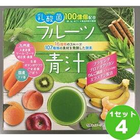 [200円クーポン・ママ割5倍]新日配薬品 乳酸菌入りフルーツ青汁45包 ×4本(個) 食品
