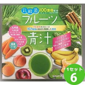 [200円クーポン・ママ割5倍]新日配薬品 乳酸菌入りフルーツ青汁45包 ×6本(個) 食品