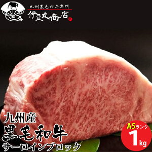 A5雌 九州産 黒毛和牛 サーロイン ブロック 1kg 最高品質