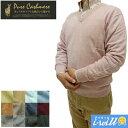 【取寄せ】Pure Cashmere カシミヤ100% Vネックセーター S-LLサイズ 34カラー 69701【送料無料(北海道は1650円、沖縄…