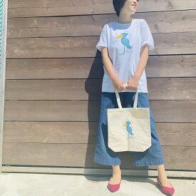 伊豆シャボテン本舗ハシビロコウ トートバッグ & 大人半袖プリントTシャツ2点セット