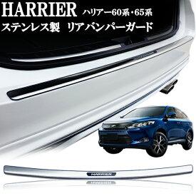 ハリアー60系 ハリヤー60系 ハリアーハイブリッド 60系 65系 ステンレス リアバンパーガード リアバンパーガーニッシュ プレート エアロチューン