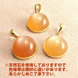 K18オレンジムーンストーンペンダント