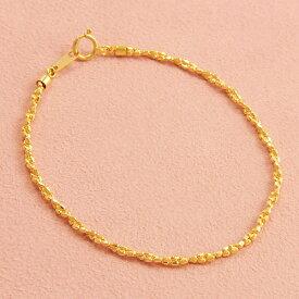 K18 ブレスレット 18cm 18金ゴールド【送料無料】【ラッピング無料】