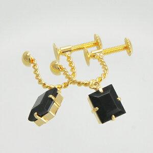 K18オニキスイヤリング