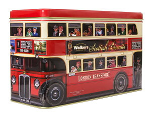 ロンドンバスロンドン観光の名物でもある2階建てバスにチョコチャンクビスケットとフルーツ&レモンビスケットを詰合せました。
