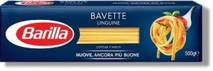 バリラ バベッティー(リングイネ) 500gリングイネとも呼ばれる、イタリア・ジェノヴァを代表するパスタ。ソースの絡みが良いので魚介類のソースともよく合います。