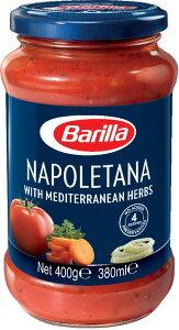 バリラ ナポレターナパスタソースとしてはもちろん、焼いた肉や白身魚のグリルにかけて、ソースとして使ってもおいしくいただけます。