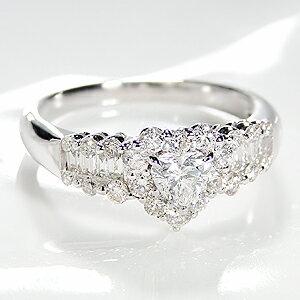 pt900ダイヤモンドハートリング