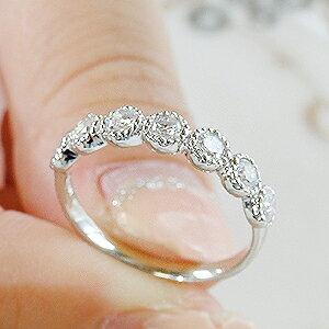 pt900【0.5ct】プラチナミル打ちダイヤモンドリング
