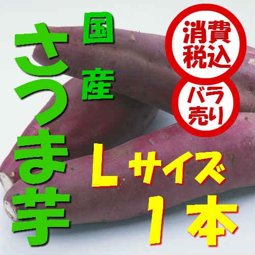 【税込 バラ売り】茨城・千葉産他 さつま芋 L 1本(さつまいも サツマイモ サツマ芋 焼き芋 大学芋)上越フルーツ
