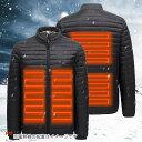 電熱ジャケット 防寒ジャケット ヒートジャケット ホット USB加熱ウェア 3段温度調整 バイク 釣り キャンプ ゴルフ ス…