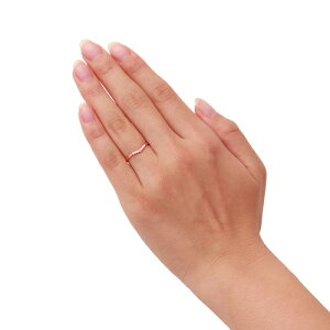 THEKISSシルバーリングレディース【SwarovskiZirconia】ピンクゴールドコーティングシルバーリングV字ラインピンクキュービックファンシーピンクキュービック【楽ギフ_包装】
