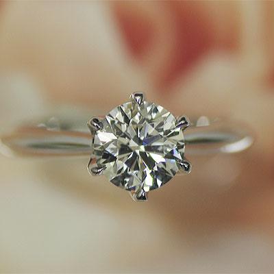 ダイヤモンド エンゲージリング プラチナ 1カラット Fカラー VS2 GOOD 婚約指輪 ダイヤを美しく魅せる小さな爪 ※お買い上げのお客様、マリッジリング1本につき2000円値引