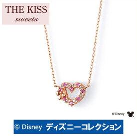 【ディズニーコレクション】 ミニー THE KISS sweets ピンクゴールド ネックレス レディース K10PG製 ハートxピンクサファイアxホワイトトパーズ DI-PN2701PSP 記念日 バレンタイン ホワイトデー