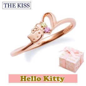 ハロー キティー【HELLO KITTYxTHE KISSコラボ】 THE KISS シルバー リング 【レディース販売】 SV925製 ハートモチーフ ピンクコーティング x キュービックジルコニア KITTY-15CB 記念日 バレンタイン ホワイトデー