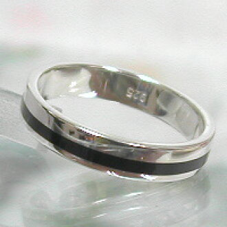 Silver pair juuku-19 SV925 wedding ring wedding ring-black line-engraved in a neat! Computer engraved Valentine's day white ★ Futari no KIZUNA ★