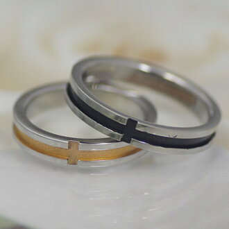 스테인레스 페어링 juuku-19 서 경 결 스텐 레 스 스틸 결혼 반지 결혼 반지 핑크 x 블랙 크로스 칼자루 컴퓨터 마크 발렌타인 화이트 데이