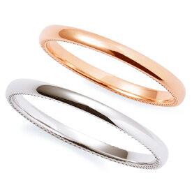 送料無料 THE KISS sweets 【ペア販売】 ピンクゴールド x ホワイトゴールド K10PG K10WG ペアリング 筆記体日本語刻印可能 K-R2302PG-K-2302WG 結婚指輪 マリッジリング 記念日 バレンタイン ホワイトデー 安い