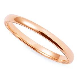 送料無料 THE KISS sweets 【レディース・1本販売】 ピンクゴールド K10PG ペアリング 筆記体日本語刻印可能 K-R2302PG 結婚指輪 マリッジリング 記念日 バレンタイン ホワイトデー 安い
