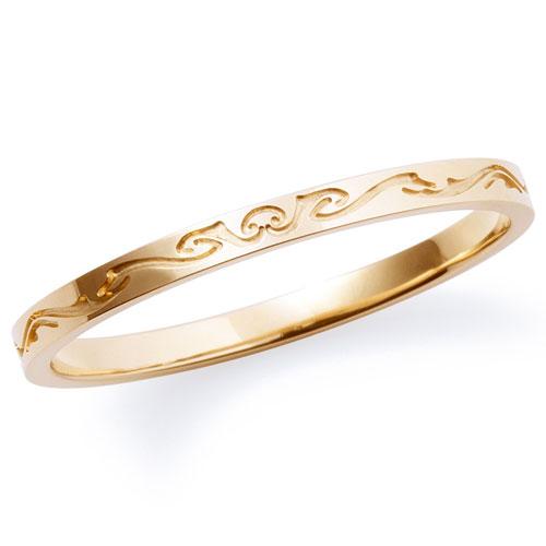 送料無料 THE KISS sweets 【1本販売】 イエローゴールド K10YG ペアリング K-R803YG 刻印可能 結婚指輪 マリッジリング ホワイトデー