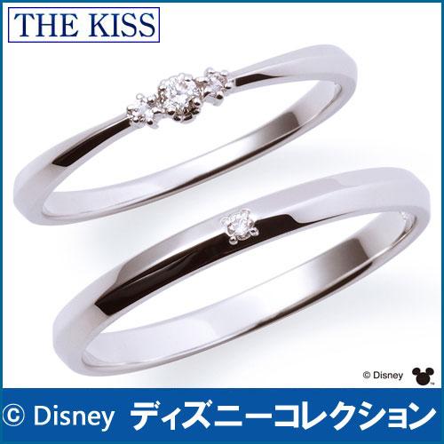 送料無料 【 ディズニーコレクション 】 隠れミッキー THE KISS sweets 【ペア販売】 指輪 ディズニー ダイヤモンド ホワイトゴールド ペアリング 筆記体日本語刻印可能 結婚指輪 DI-WR1810DM-DI-WR1811DM 指輪 THEKISS 記念日