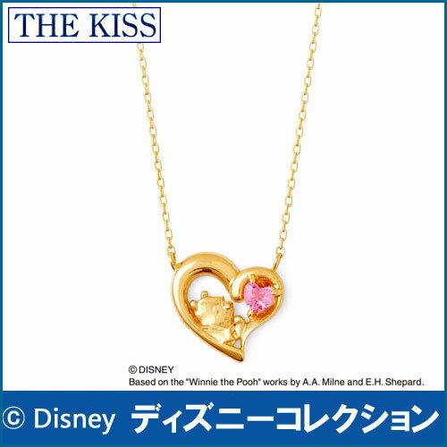 送料無料 【ディズニーコレクション】 くまのプーさん THE KISS sweets イエローゴールド ネックレス レディース K10製 40cm ピンクトルマリン DI-YN2702PT ホワイトデー