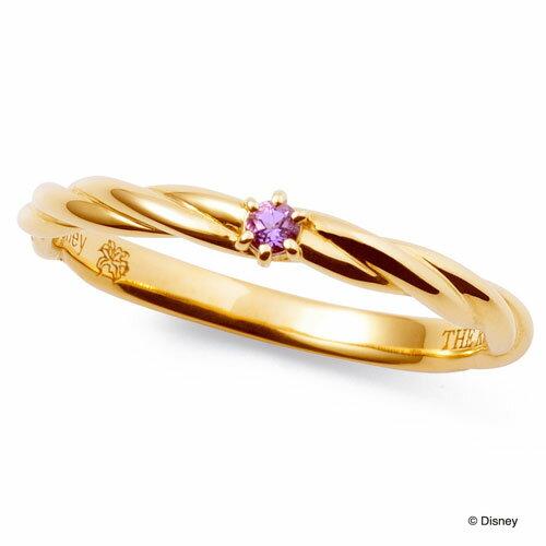 送料無料 【 ディズニーコレクション 】 プリンセス ラプンツェル THE KISS sweets アメジスト 【レディース・1本販売】 イエローゴールド 指輪 ディズニー ペアリング 筆記体日本語刻印可能 指輪 THEKISS DI-YR2921AM ホワイトデー