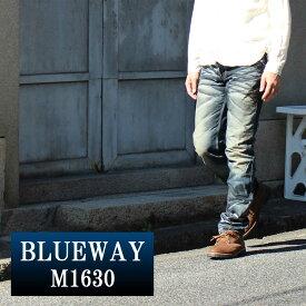 BLUEWAY:ビンテージデニム・エンジニアインカットジーンズ(ブラックシェーバー):M1630-5761 ブルーウェイ ジーンズ メンズ デニム ジーパン 裾上げ