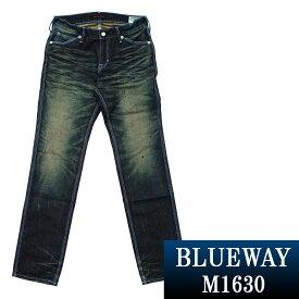 BLUEWAY:ビンテージデニム・エンジニアインカットジーンズ(モーターサイクル):M1630-6155 ブルーウェイ ジーンズ メンズ デニム ジーパン 裾上げ