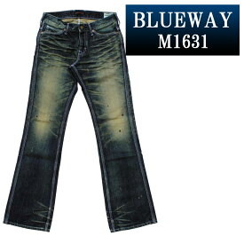 ブーツカットジーンズ;BLUEWAY:ビンテージデニム・エンジニア フレアカットジーンズ(モーターサイクル):M1631-6155 ブルーウェイ ジーンズ ブーツカット メンズ デニム ジーパン 裾上げ