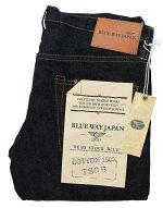 BLUEWAY:13.5ozビンテージデニム・タイトストレートジーンズ(ワンウォッシュ):M1928-8100ブルーウェイジーンズメンズデニムジーパン裾上げストレート