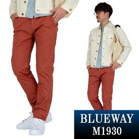 BLUEWAY:コーマストレッチサテン・トラウザーズ(ダークオレンジ):M1930-16 ブルーウェイ パンツ メンズ チノパン 裾上げ