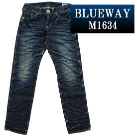 BLUEWAY:ビンテージデニム・エンジニアインカットジーンズ(ツイストブルーNEXT):M1634-5435 ブルーウェイ ジーンズ メンズ デニム ジーパン 裾上げ