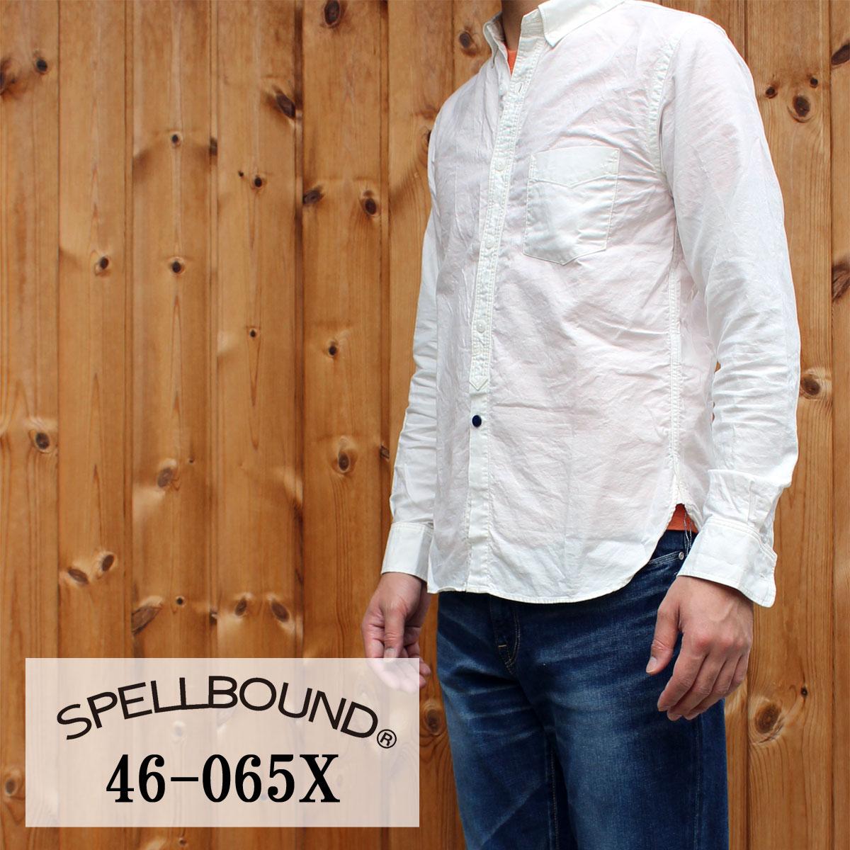 SPELLBOUND:オリジナルオックス・ボタンダウンシャツ(オフホワイト):46-065X SPELLBOUND(スペルバウンド)SHIRT