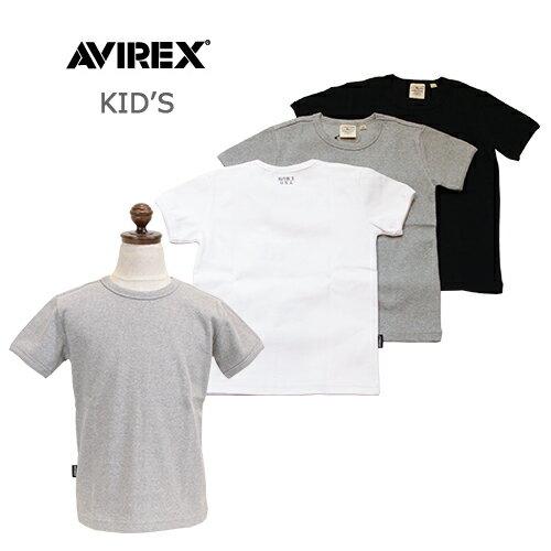 AVIREX/アヴィレックス <キッズ> KID'S DAILY RIB CREW NECK T/キッズデイリーリブ クルーネックTシャツ 6383502
