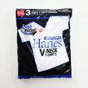 HANES/ヘインズ 3P アオラベル VネックTシャツ/青パック ヘインズ HM2125G