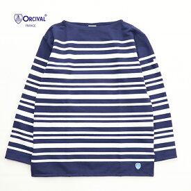 ORCIVAL/オーシバル <メンズ> ラッセル フレンチセーラーTシャツ ネイビー×ホワイト 6101-NAVY