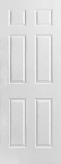 【輸入木製ドア】メイソナイト6パネルHDF室内ドア 813×2032×35サイズ