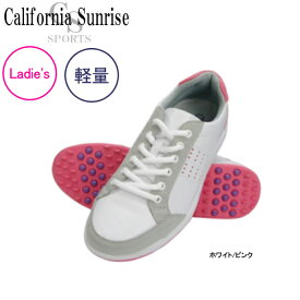 【16年SSモデル】【レディース】 朝日ゴルフ カリフォルニアサンライズ スパイクレスシューズ CSSH-3622L (Lady's) California Sunrise Spikeless Shoes ASAHI GOLF