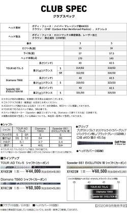 【20年モデル】ブリヂストンゴルフツアーBX-Fフェアウェイウッド[ディアマナTB60]カーボンシャフトBRIDGESTONEGOLFTOURBDiamana