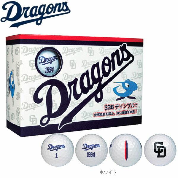【17年モデル】レザックス 中日ドラゴンズ メンズ ゴルフボール 6球入り(半ダース) CDBA-7753 (Men's) Dragons LEZAX