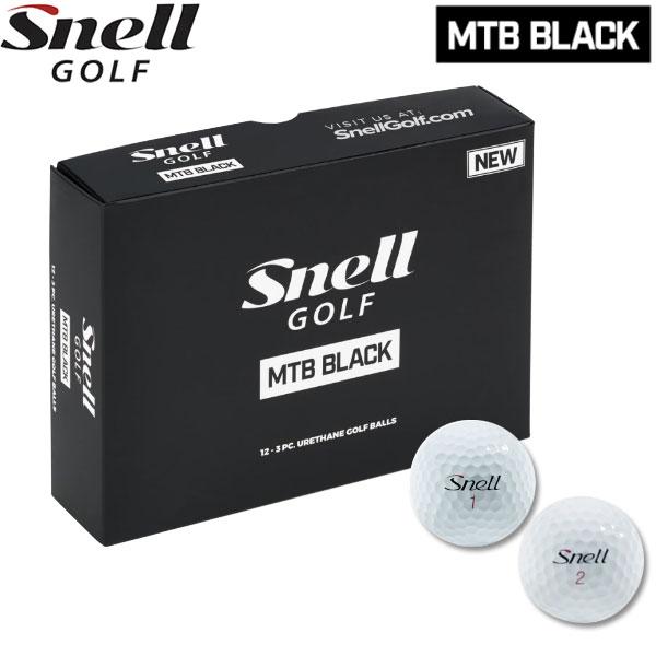 【2ダースセット】【18年モデル】 スネルゴルフ MTB ブラック ボール ゴルフボール 2ダース(24球) Snell Golf BLACK Ball
