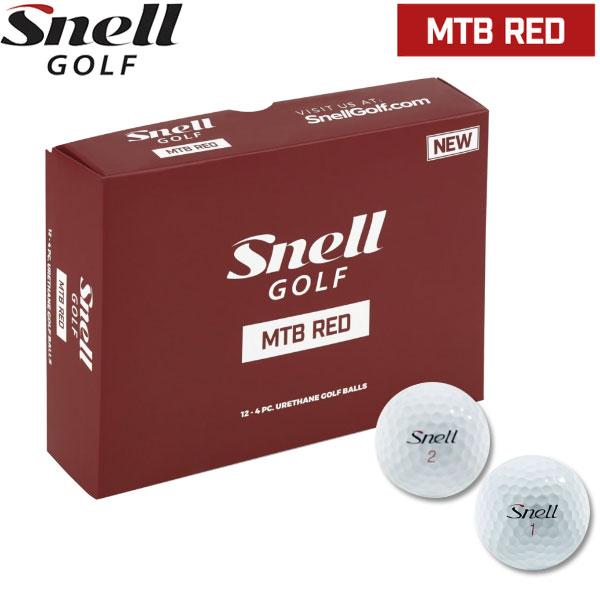【2ダースセット】【18年モデル】 スネルゴルフ MTB レッド ボール ゴルフボール 2ダース(24球) Snell Golf RED Ball