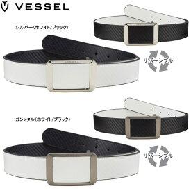 【20年モデル】ベゼル メンズ ベルト スクエア リバーシブル (Men's) Belt Square reversible VESSEL