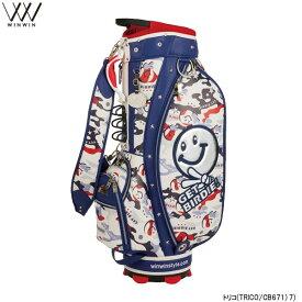 【21年モデル】【数量限定】ウィンウィン ゲットバーディ!カモ キャディバッグ CB-671/CB-673 GET BIRDIE CAMO CART BAG Version LEM WINWIN