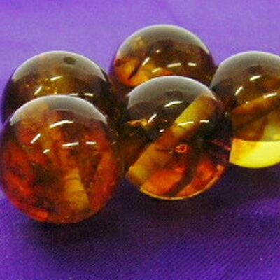 """《10ミリアップ》""""琥珀(アンバー)""""両穴ビーズを一玉からお届け《勉強運、人間関係運、癒しの石・パワーストーン・天然石・粒売り・バラ売り・10mmラウンドビーズ・こはく・コハク》"""