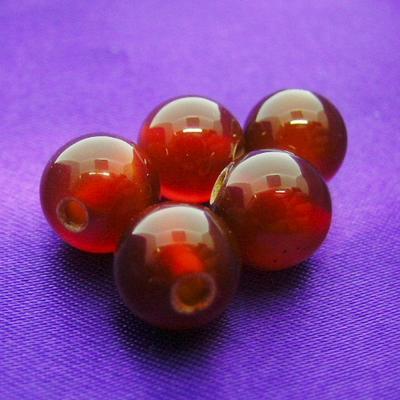 """《8ミリアップ》""""レッドメノウ""""両穴ビーズを一玉からお届け《パワーストーン・天然石・粒売り・バラ売り・8mmラウンドビーズ》"""